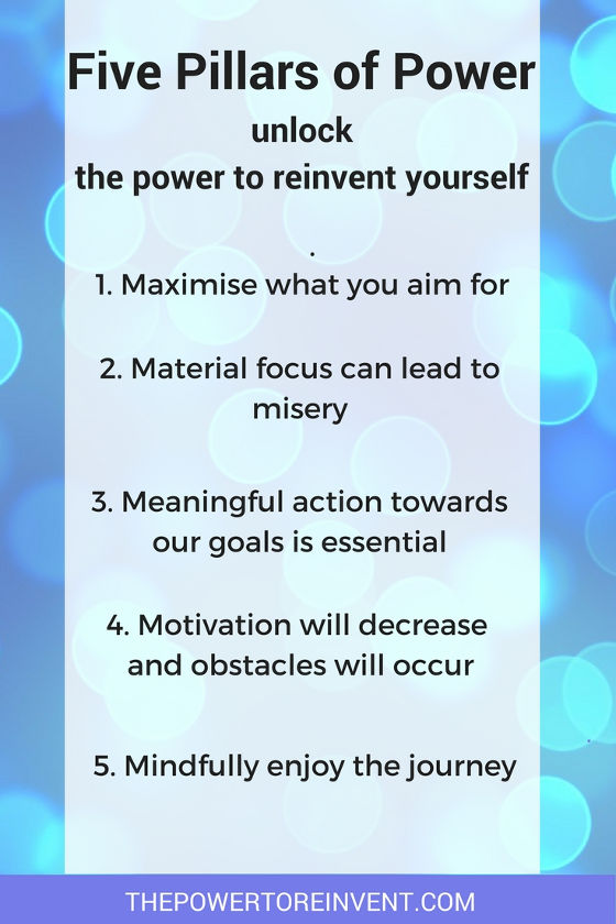 five pillars of power list. Unlock the power to reinvent yourself.
