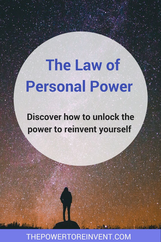 law of personal power. discover how to unlock the power to reinvent yourself.