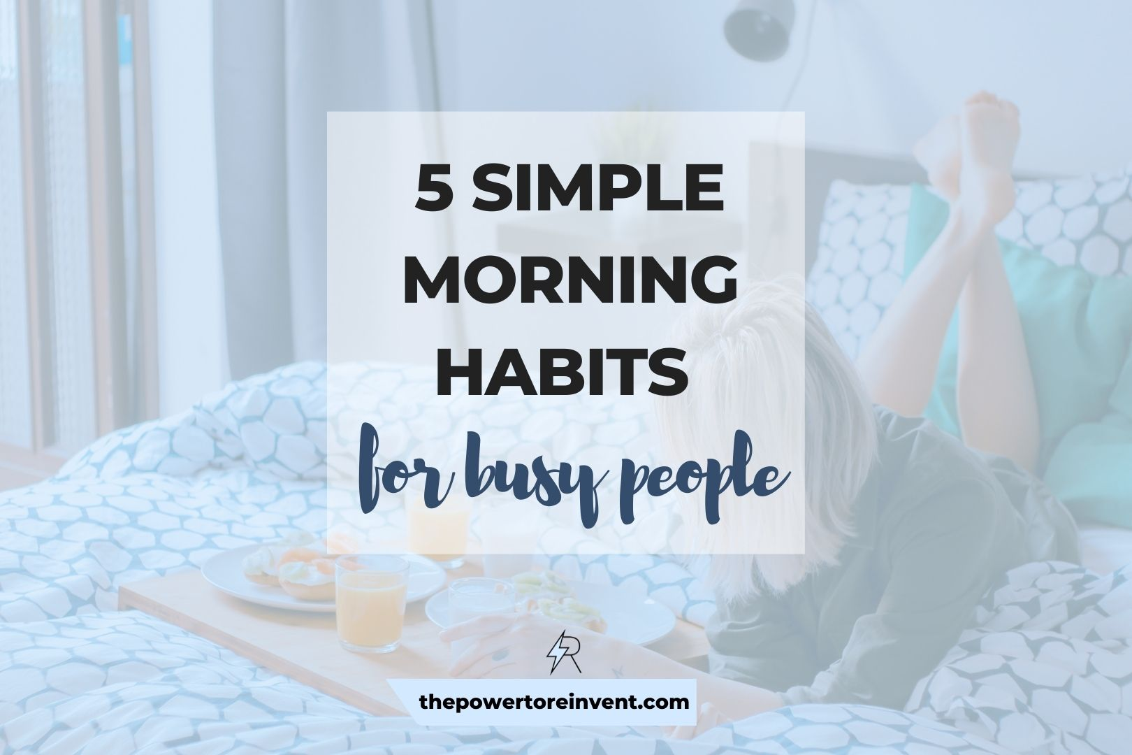 morning habits for busy people