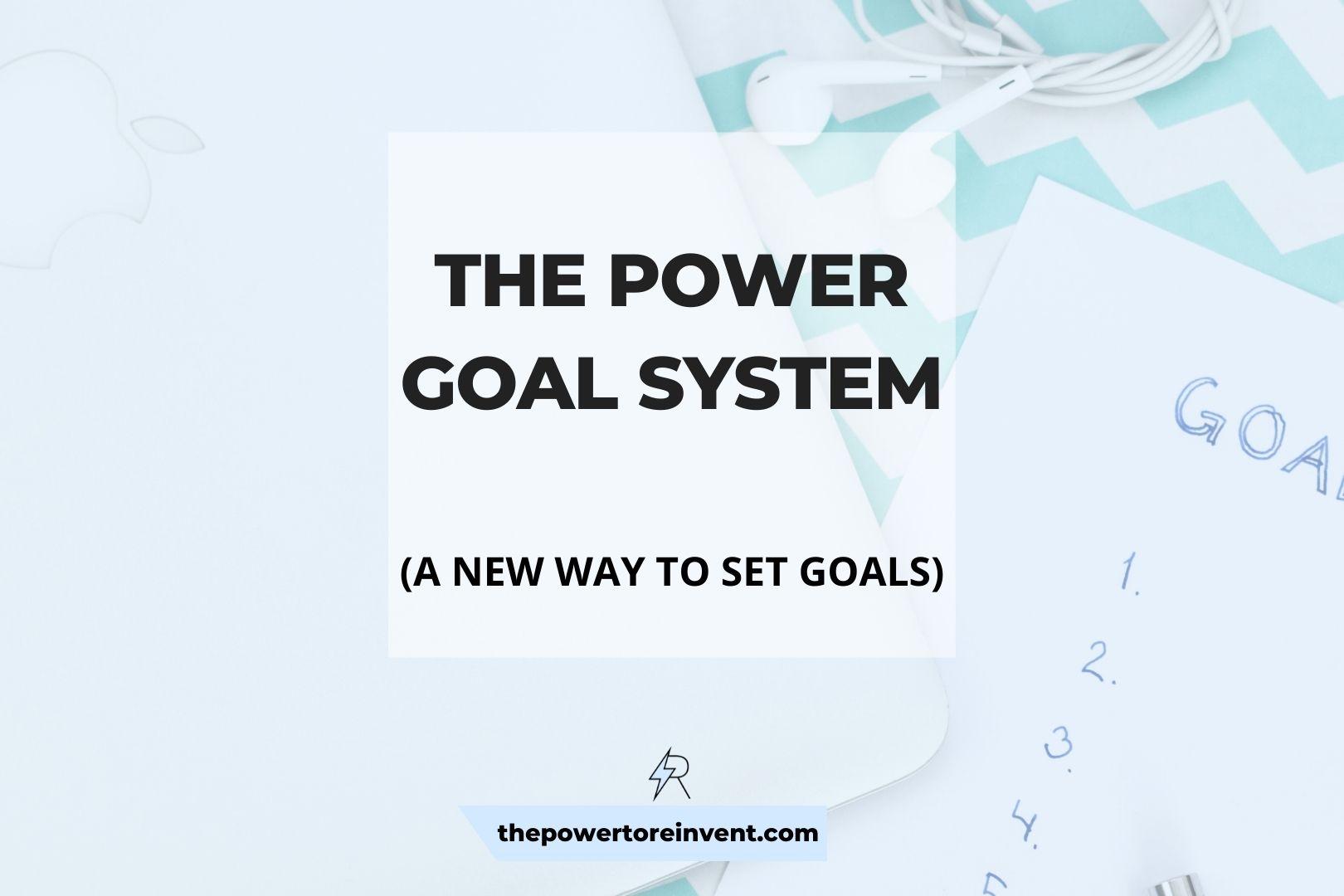 POWER Goal System Banner New