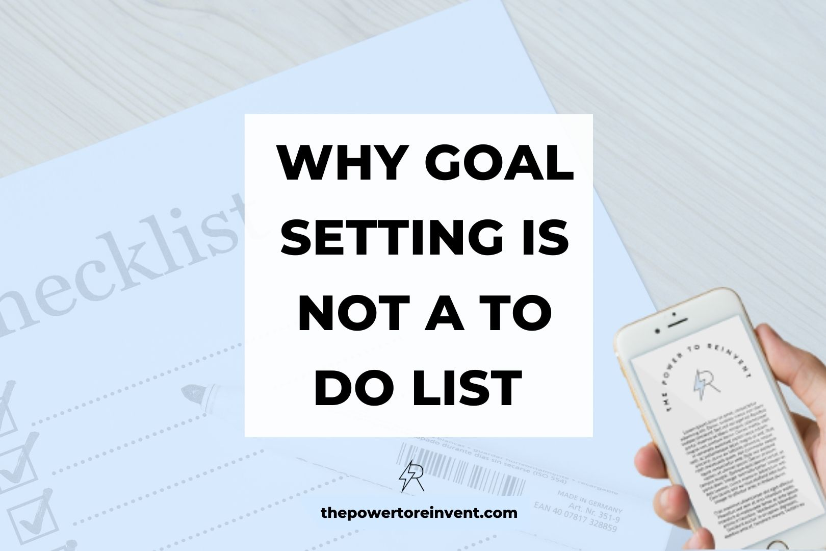 Why goal setting is not a to do list banner