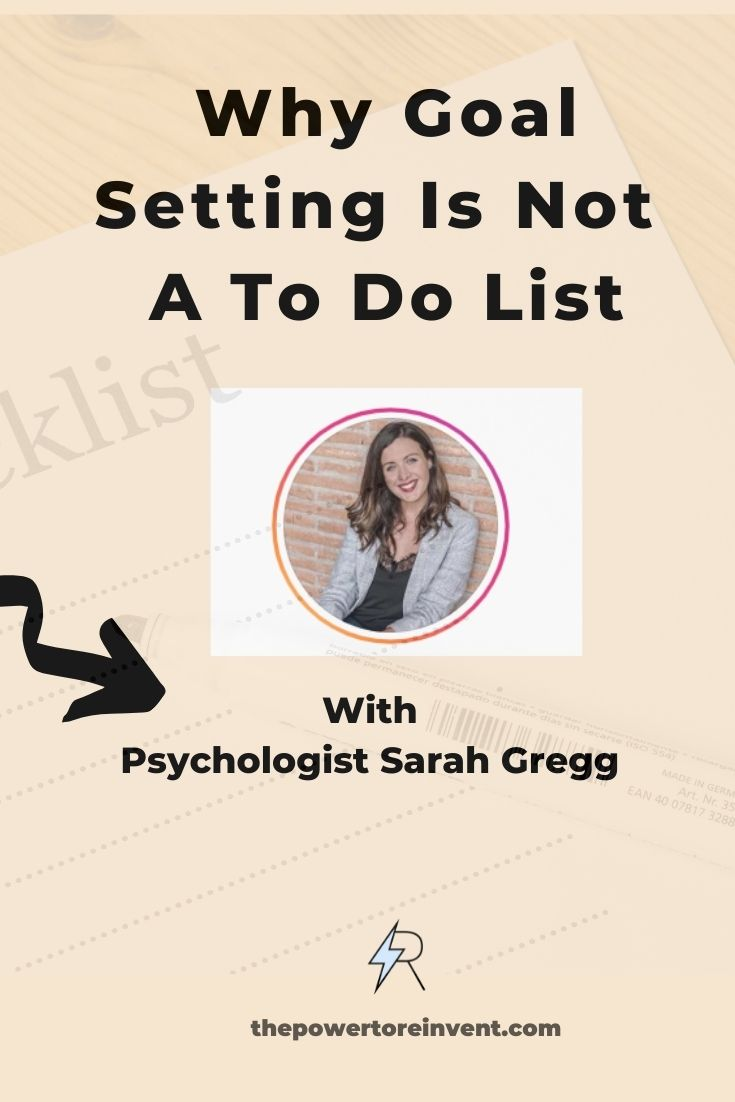 Why goal setting is not a to do list pin