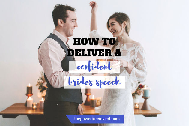 how to deliver a confident bride wedding speech